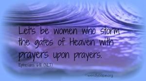 Prayers upon prayers