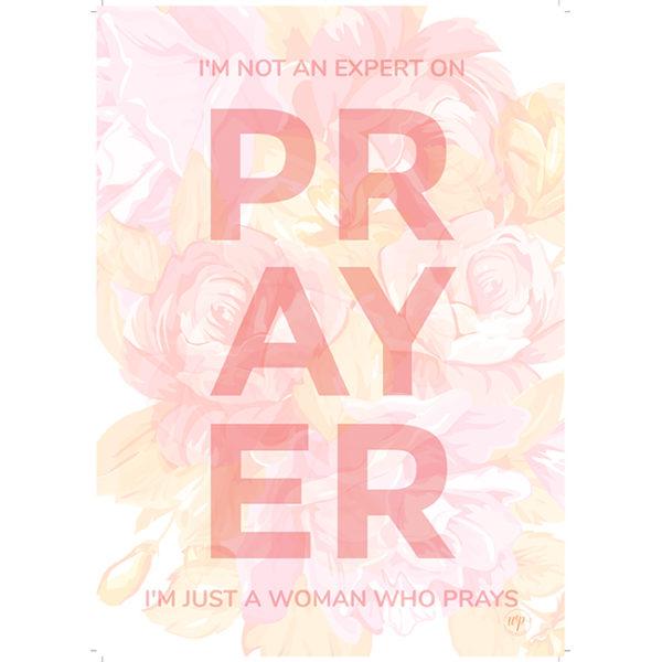 Wendy Pope Print Prayer bleed white edge